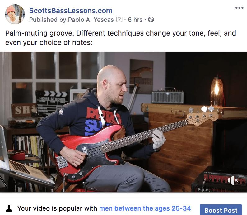 ScottsBassLessons Facebook Video