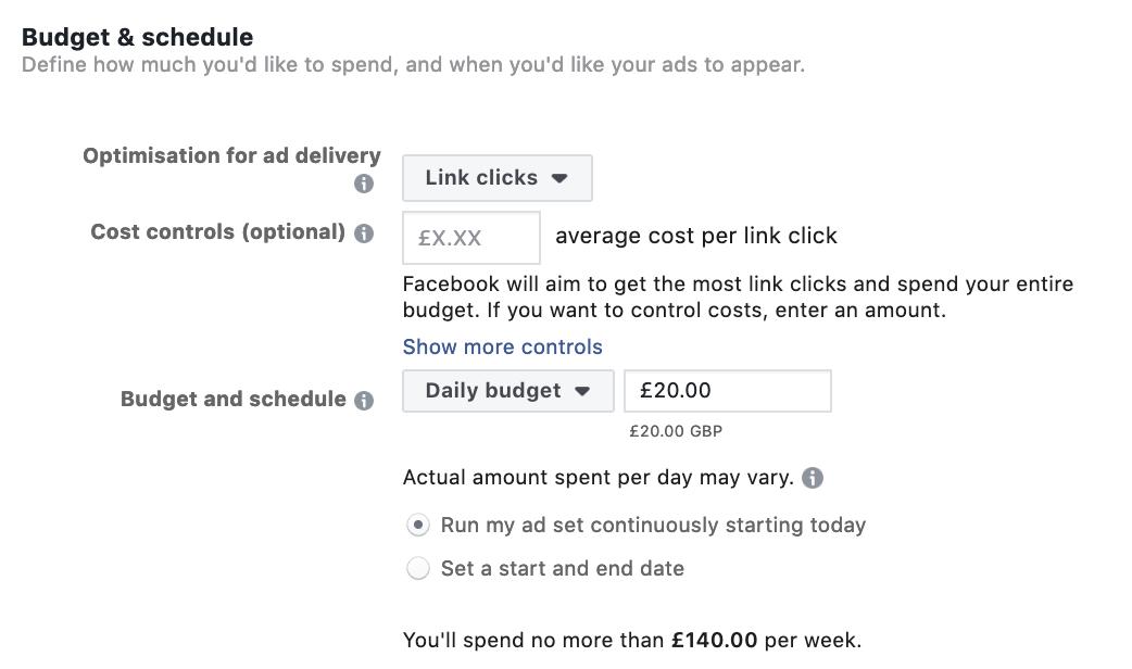 Choosing Facebook Ads Budget