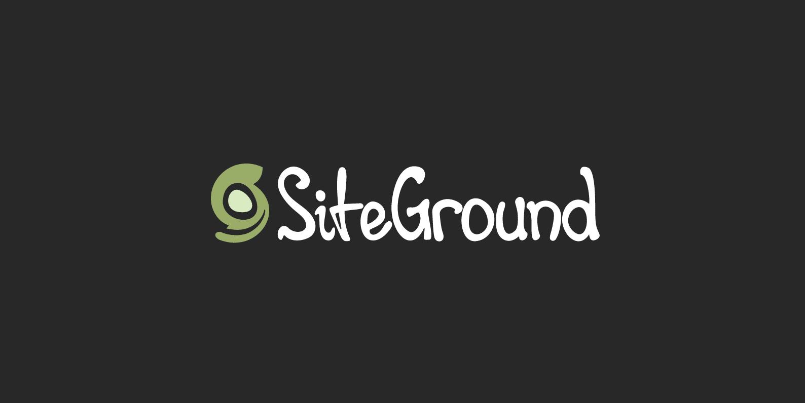 Siteground for web hosting